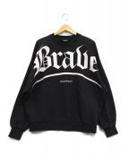 DIESEL(ディーゼル)の古着「Braveルーズスウェット」|ブラック