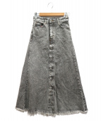 DIESEL(ディーゼル)の古着「カットオフデニムスカート」|グレー