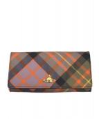 Vivienne Westwood(ヴィヴィアンウエストウッド)の古着「長財布」|パープル×オレンジ