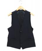 LARDINI(ラルディーニ)の古着「ブートニエール付ジレ」|ネイビー