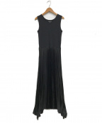 theory()の古着「Vinessi Belsay Rib Maxi Dress」|ブラック