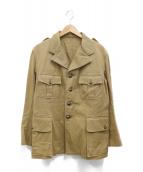 PHERROWS(フェローズ)の古着「サファリジャケット」|ベージュ