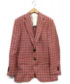 TOMORROW LAND PILGRIM(トゥモローランドピルグリム)の古着「テーラードジャケット」|レッド