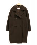 MaxMara(マックスマーラ)の古着「カシミヤ混ウールコート」|ブラウン