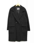 MaxMara(マックスマーラ)の古着「カシミヤ混ウールコート」|ブラック