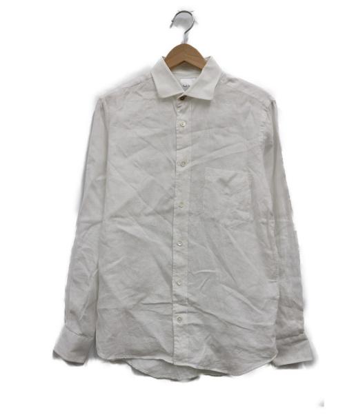 PAUL SMITH(ポールスミス)Paul Smith (ポールスミス) リネンカジュアルシャツ ホワイト サイズ:M  LINEN CASUAL SHIRTの古着・服飾アイテム