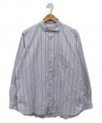 UNIVERSAL PRODUCTS.(ユニバーサルプロダクツ)の古着「GIZAストライプシャツ」 ブルー