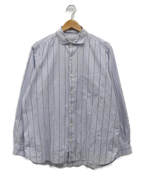 UNIVERSAL PRODUCTS.(ユニバーサルプロダクツ)UNIVERSAL PRODUCTS. (ユニバーサルプロダクツ) GIZAストライプシャツ ブルー サイズ:M YAAHの古着・服飾アイテム