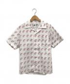 CHALLENGER()の古着「ペイズリーオープンカラーシャツ」|ホワイト
