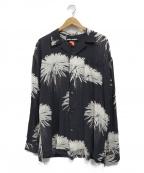 DOUBLE RAINBOUU(ダブルレインボー)の古着「アロハオープンカラーシャツ」|グレー×ホワイト