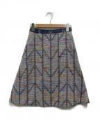 Coohem(コーヘン)の古着「ヘリンボーンツイードスカート」|マルチカラー