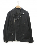 COOTIE(クーティー)の古着「コットンポリライダースジャケット」|ブラック