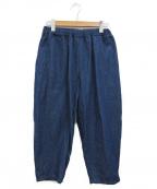 オローネ(オローネ)の古着「デニムバルーンパンツ」|インディゴ