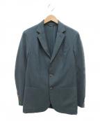 LORO PIANA(ロロピアーナ)の古着「カシミヤシルクテーラード3Bジャケット」 ブルー