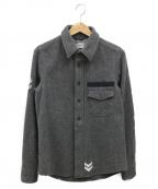 R.H.Vintage(ロンハーマン ヴィンテージ)の古着「ウールミリタリージャケット」 グレー