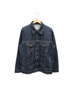 POST OALLS(ポストオーバーオールズ)の古着「デニムジャケット」|ブルー