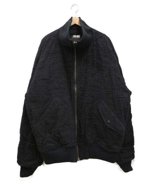 JOHN LAWRENCE SULLIVAN(ジョンローレンスサリバン)JOHN LAWRENCE SULLIVAN (ジョンローレンスサリバン) リバーシブルハイネックボンバージャケット ブラック サイズ:XL 未使用品の古着・服飾アイテム