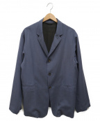 THEE(シー)の古着「3ボタンボックスジャケット」|スカイブルー