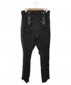 Jean Paul Gaultier homme(ジャンポールゴルチェオム)の古着「ストライプボンテージパンツ」 ブラック×ベージュ