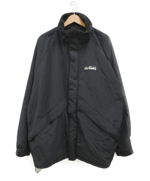 WILD THINGS(ワイルシングス)WILD THINGS (ワイルドシングス) 裏フリース中綿コート ブラック サイズ:Lの古着・服飾アイテム