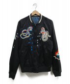 DIESEL(ディーゼル)の古着「刺繍スカジャン」|ブラック