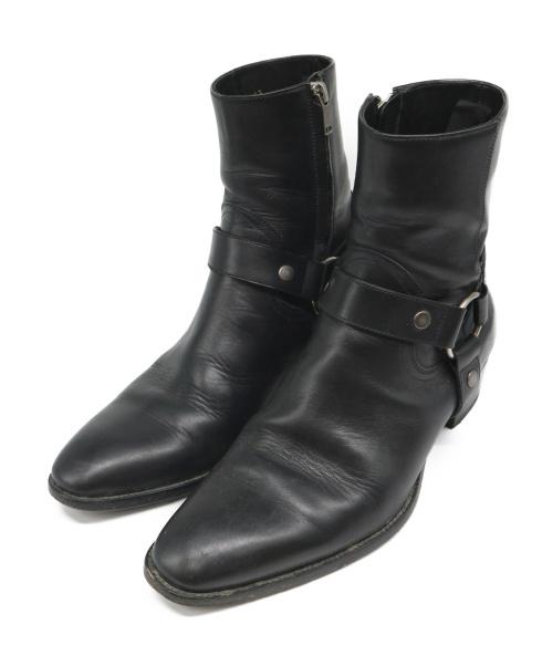 Saint Laurent Paris(サンローランパリ)Saint Laurent Paris (サンローランパリ) ハーネスリングブーツ ブラック サイズ:42 Harness Ring Bootの古着・服飾アイテム