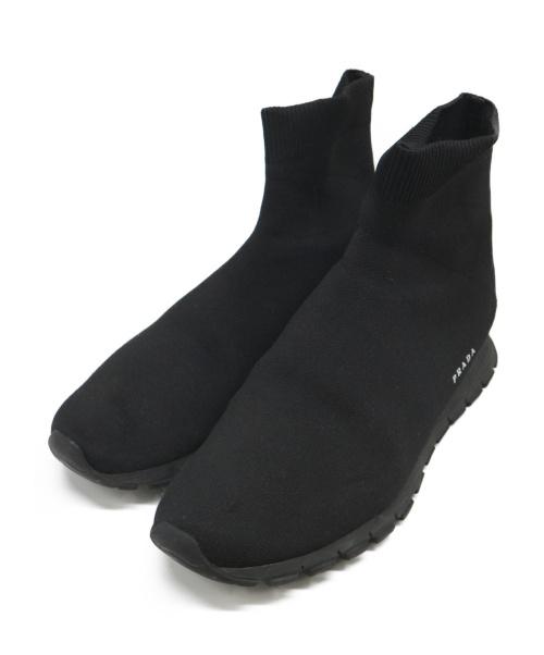 PRADA(プラダ)PRADA (プラダ) ソックススニーカー ブラック サイズ:7 1/2の古着・服飾アイテム