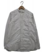 ()の古着「バンドカラーパッチワークシャツ」|ホワイト