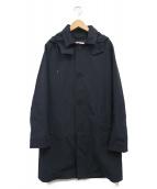 ()の古着「フーデッドステンカラーコート」|ネイビー