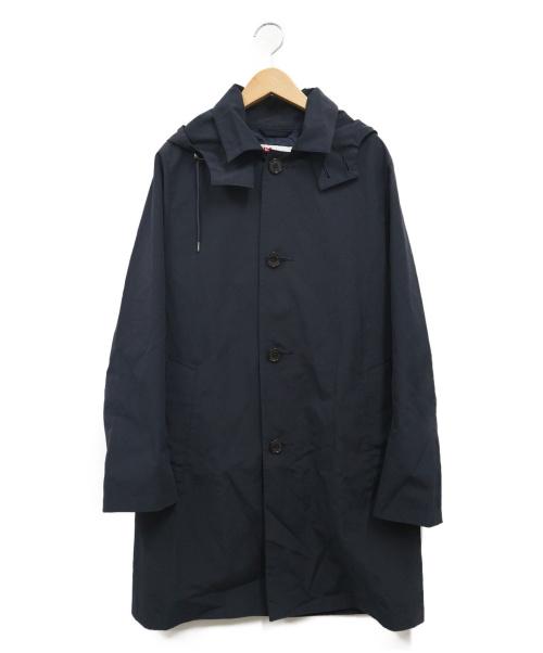Traditional Weatherwear(トラディショナルウェザーウェア)Traditional Weatherwear (トラディショナルウェザーウェア) フーデッドステンカラーコート ネイビー サイズ:36 SELBYの古着・服飾アイテム