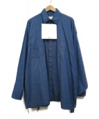 ()の古着「キモノシャツ」|ブルー