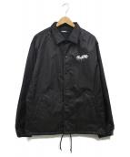 ()の古着「バックプリントコーチジャケット」|ブラック