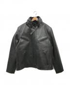 Liugoo Leathers(リューグーレザーズ)の古着「ライナーツキカーフレザージャケット」 ブラック