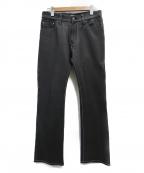Paul Smith JEANS(ポールスミス ジーンズ)の古着「レザーフレアパンツ」|ブラック