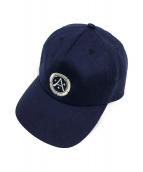 UNDERCOVER(アンダーカバー)の古着「Wフラノ家紋BBキャップ」|ネイビー