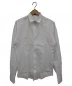 BOTTEGA VENETA()の古着「プレーンシャツ」 ホワイト