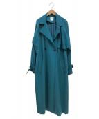 Ameri VINTAGE(アメリビンテージ)の古着「バックプリーツトレンチコート」|ブルー
