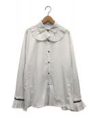 ()の古着「ビックカラーフリルブラウス」|ホワイト