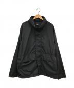BEAMS(ビームス)の古着「ワッシャーナイロンフードブルゾン」 ブラック