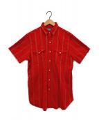 POLO RALPH LAUREN(ポロ・ラルフローレン)の古着「総柄ウエスタンシャツ」|レッド