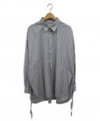 Toironier(トワロニエ)の古着「ルーズシャツ」 ブルー