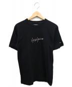 YOHJI YAMAMOTO × NEW ERA(ヨウジヤマモト × ニューエラ)の古着「ロゴ刺繍Tシャツ」 ブラック