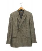 BROOKS BROTHERS(ブルックスブラザーズ)の古着「リネンシルクブレンドダブルブレスドジャケット」|ブラウン