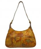 PRIMA CLASSE(プリマクラッセ)の古着「ワールドマップワンショルダーバッグ」 ブラウン