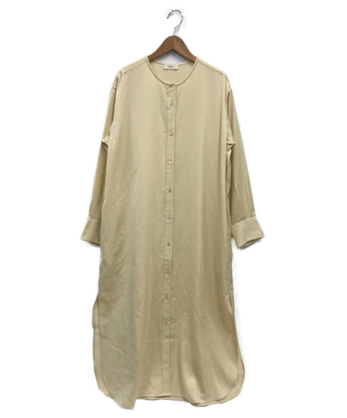 IENA(イエナ)IENA (イエナ) キュプラサテンノーカラーシャツワンピース イエロー サイズ:FREE 20年モデルの古着・服飾アイテム