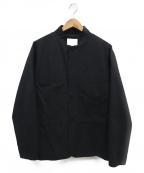 STILL BY HAND(スティルバイハンド)の古着「スタンドカラーシャツジャケット」 ブラック