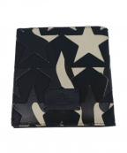 VALENTINO GARAVANI(ヴァレンティノ・ガラヴァーニ)の古着「スターカモフラ2つ折り財布」|ネイビー×ホワイト