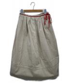 PRADA SPORTS(プラダスポーツ)の古着「タックフレアスカート」|ベージュ