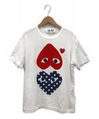 PLAY COMME des GARCONS(プレイコムデギャルソン)の古着「ハートプリントTシャツ」|ホワイト