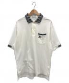 Burberrys()の古着「チェックカラーポロシャツ」 ホワイト